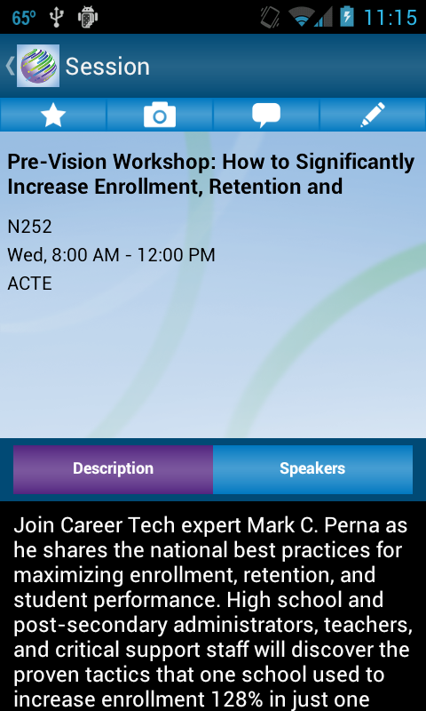 CareerTech VISIONmobile - screenshot