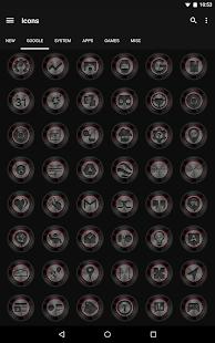 Dark Metal Red - Icon Pack- screenshot thumbnail