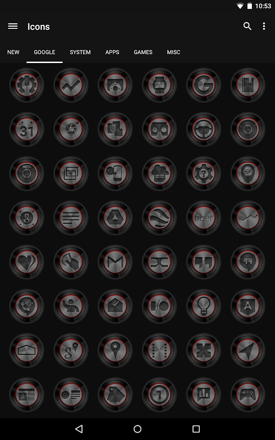 Dark Metal Red - Icon Pack- screenshot