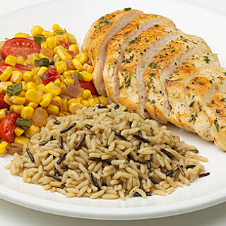 Pan-Seared Chicken with Southwest Corn and Brown & Wild Rice