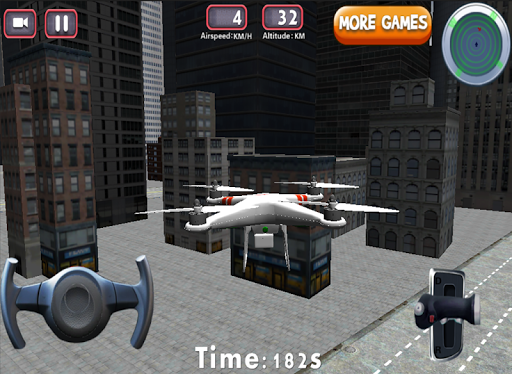 3Dドローンフライトシミュレータゲーム