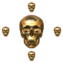uccw skin skull cross clock icon