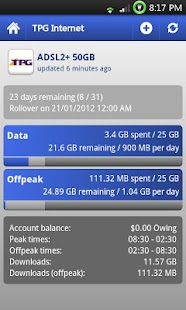 myUsage lite - screenshot thumbnail