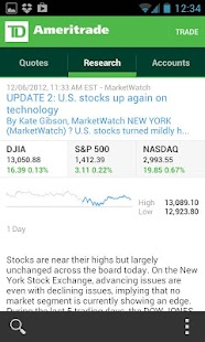 TD Ameritrade Mobile- screenshot thumbnail