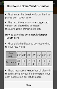 Crop Calculators - screenshot thumbnail