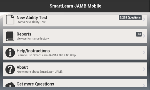 SmartLearn JAMB Mobile 2014