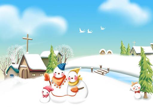 冬季雪人拼圖