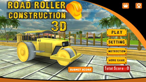 Road Roller Construction 3D