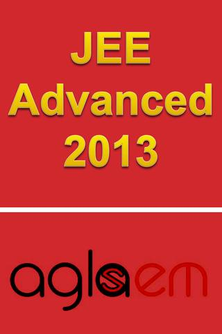 JEE Advanced 2013