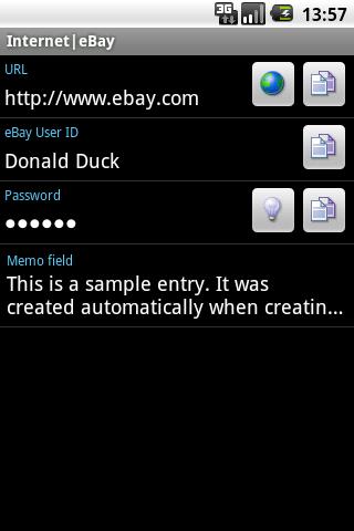 Bagusoft Password Safe Viewer- screenshot