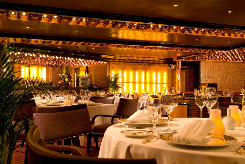 Plan a quiet, romantic meal at Chef's Art Steakhouse, on deck 12 of Carnival Dream.