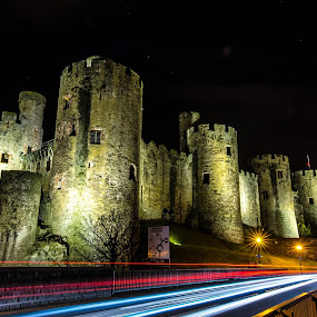 Conwy Castle Nightscape by Don Cardy - Buildings & Architecture Public & Historical (  )