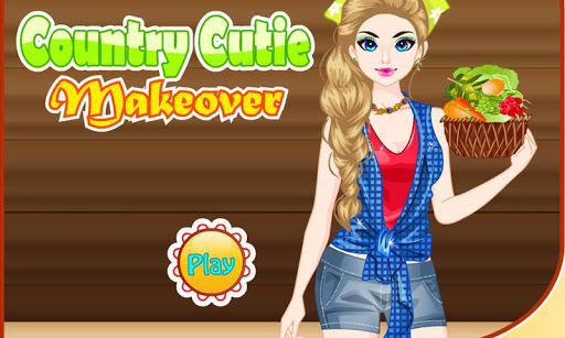 鄉下姑娘化妝遊戲