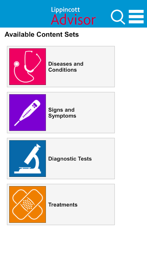 Lippincott Nursing Advisor - screenshot