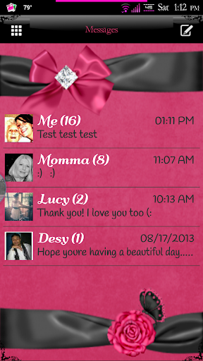 Simply Lovely GO SMS Pro Theme
