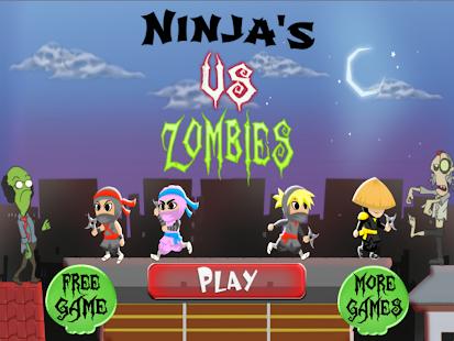 Ninja Rooftop Zombie Run Pro