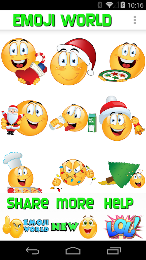 emoji world weihnachten android apps auf google play. Black Bedroom Furniture Sets. Home Design Ideas