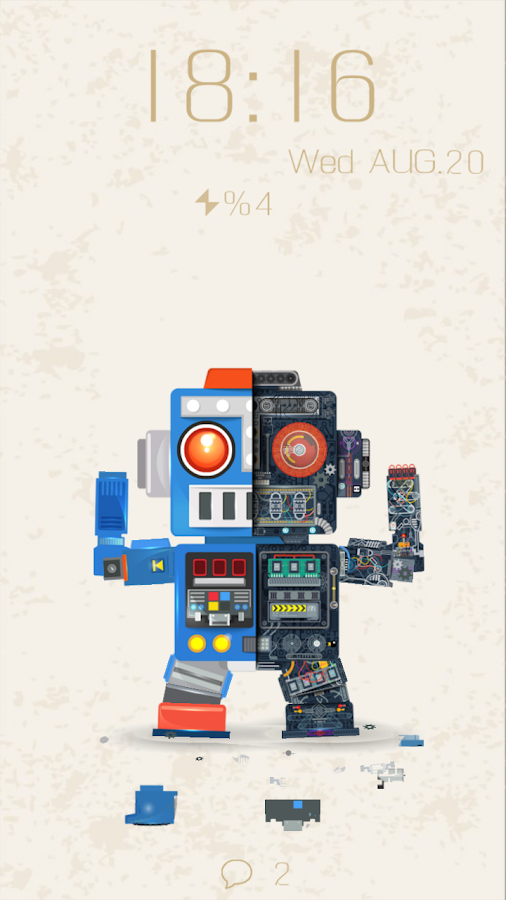 Robot Bobby Live Locker Theme - screenshot