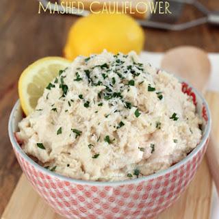 Lemon Parmesan Mashed Cauliflower