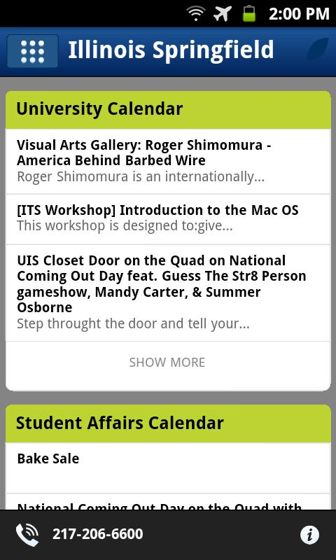UIS Mobile - screenshot