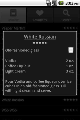 Bartender Screenshot