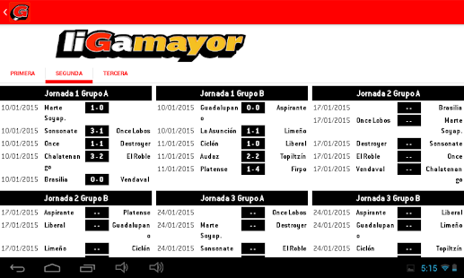 Liga Mayor- screenshot thumbnail