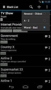 Simple Black List screenshot 4