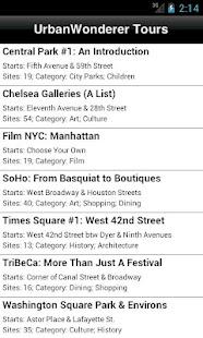 UrbanWonderer NYC Audio Tours- screenshot thumbnail