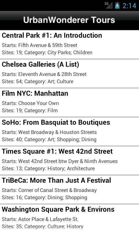 UrbanWonderer NYC Audio Tours- screenshot