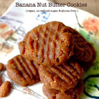 Soft & Chewy Banana Nut Butter Cookies.