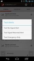 Screenshot of No Signal Alert