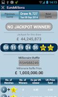 Screenshot of UK lottery