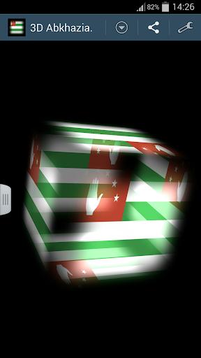 3D Abkhazia Cube Flag LWP