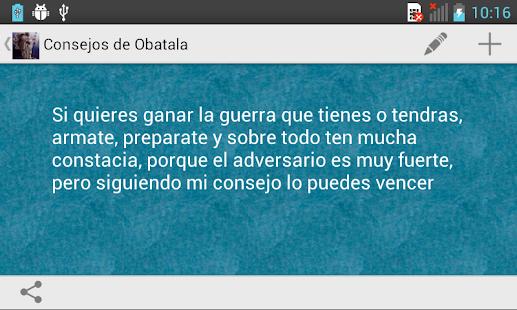 Consejos de Obatala - screenshot thumbnail