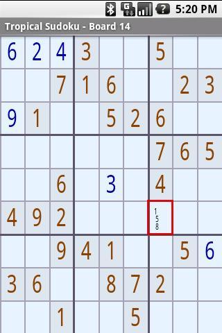 Tropical Sudoku- screenshot