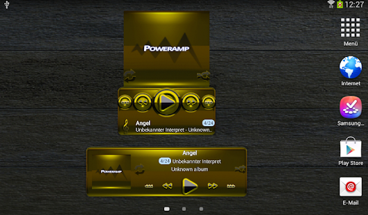 Poweramp widget BLACK YELLOW