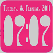 Clock Widget digital 2x2