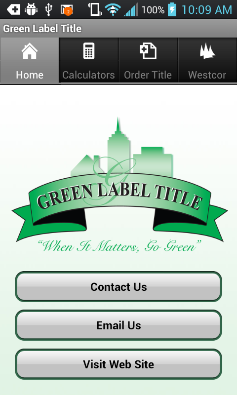Green Label Title - screenshot