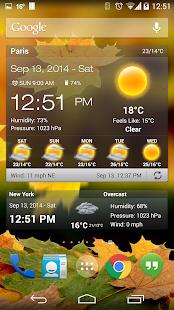 天氣與時鐘小工具沒有廣告 - Android