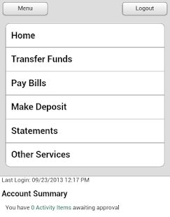 Central Bank - Mobile - screenshot thumbnail