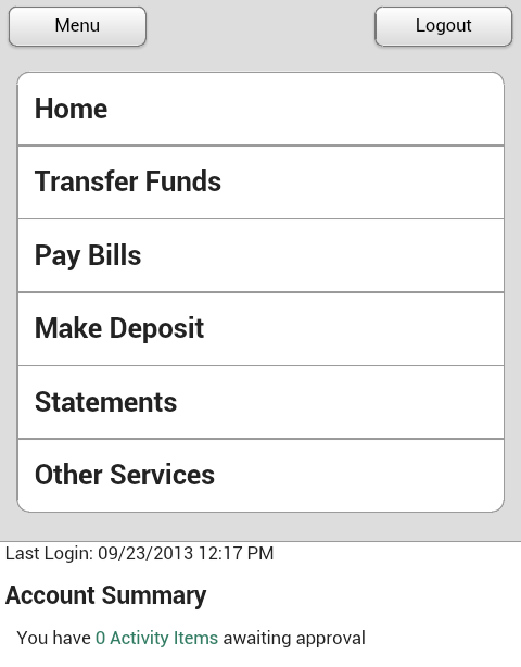Central Bank - Mobile - screenshot
