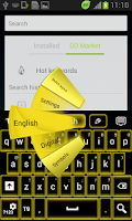 Screenshot of Yellow Neon Keyboard GO