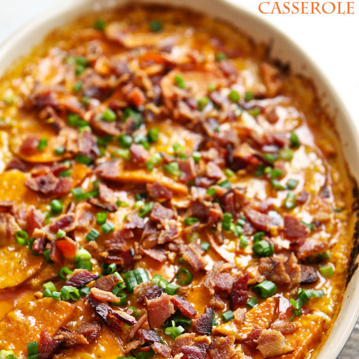 Loaded Scalloped Sweet Potato Casserole Recipe