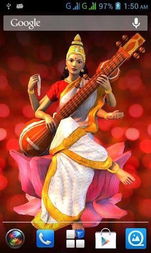 3D Saraswati Live Wallpaper