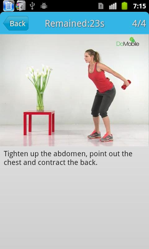 Ladies' Back Workout FREE- screenshot