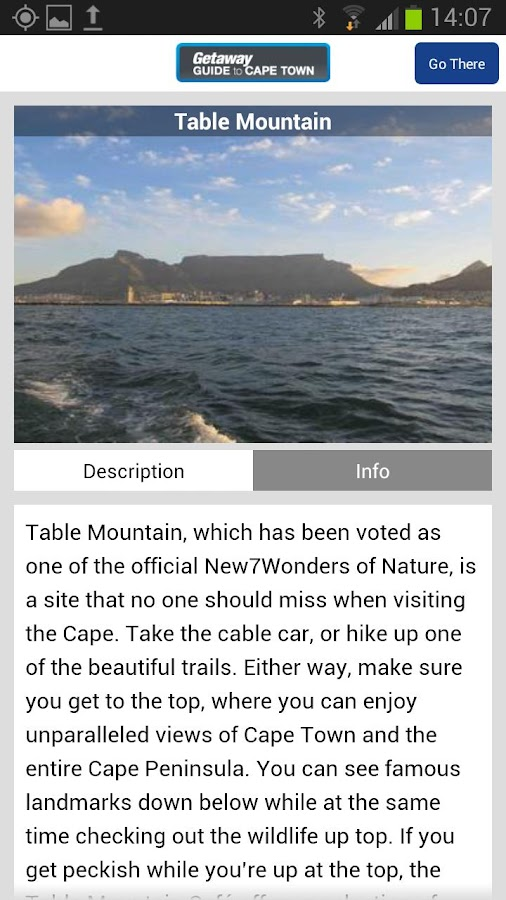 Getaway Guide to Cape Town - screenshot