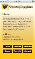 Screenshot of WyomingHappyHour