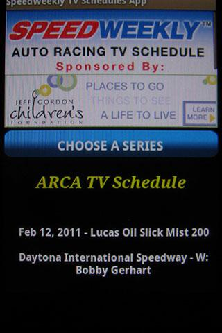 SpeedWeekly TV Schedule - screenshot