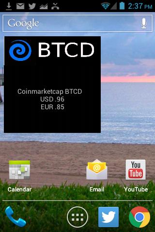 BitcoinDark BTCD Market Widget