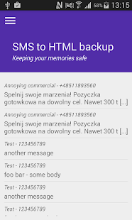 SMS to HTML backup exporter- screenshot thumbnail